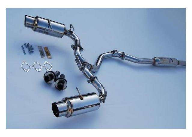 Invidia N1 Cat Back Exhaust Dual Titanium Tips fits Subaru BRZ/Toyota 86