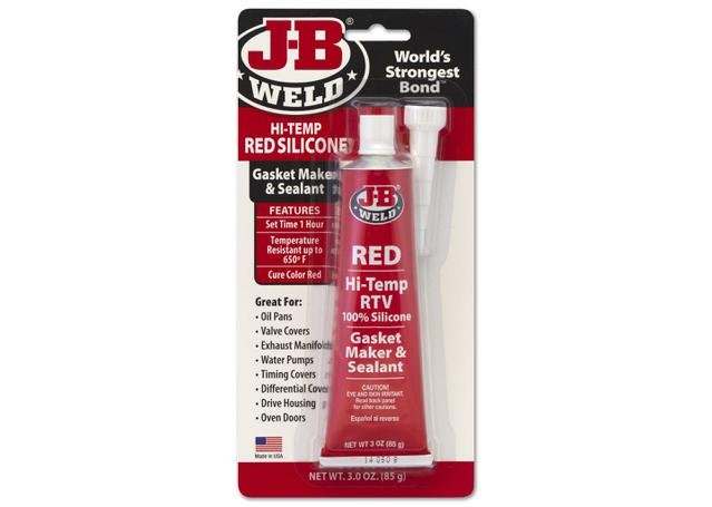 J-B Weld High Temp Red Silicone Sealant 31314 Sparesbox - Image 1