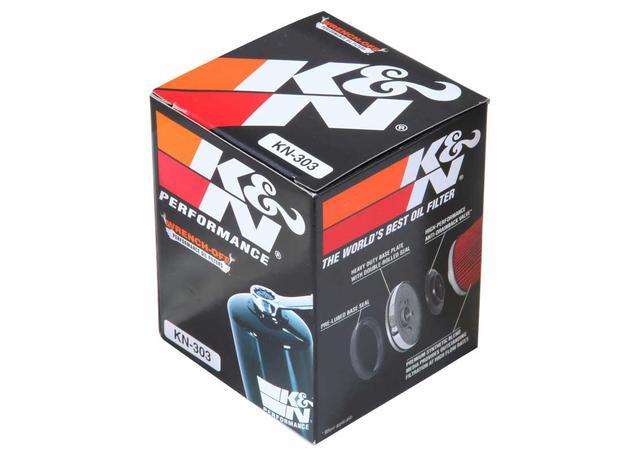 K&N Motorcycle Oil Filter Fits Honda, Kawasaki, Yamaha - KN-303 Sparesbox - Image 3
