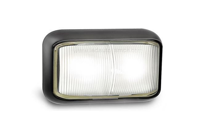 LED Autolamps Front Marker Light Clear LED 12/24V 58WM Sparesbox - Image 1
