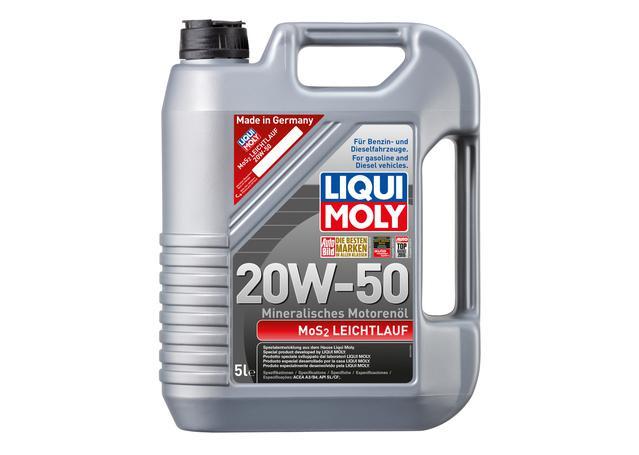 liqui moly 20w50 mos2 engine oil 5l sparesbox. Black Bedroom Furniture Sets. Home Design Ideas