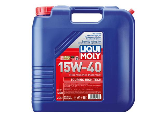 liqui moly 15w40 touring high tech engine oil 20l sparesbox sparesbox. Black Bedroom Furniture Sets. Home Design Ideas