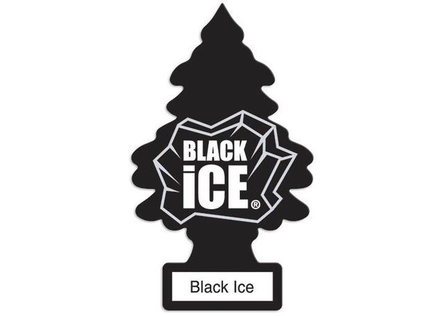 Little Trees Car Air Freshener Black Ice 3 Pack Sparesbox - Image 1