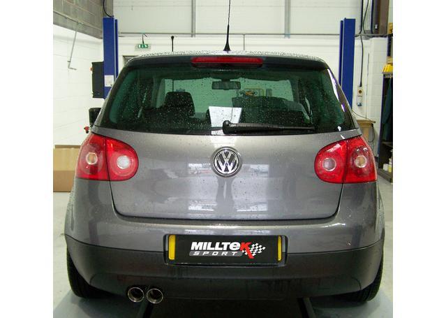 Milltek Cat Back Exhaust 2 75 Inch SSXVW167 fits VW Golf Mk5 2 0 TDI 2004-09