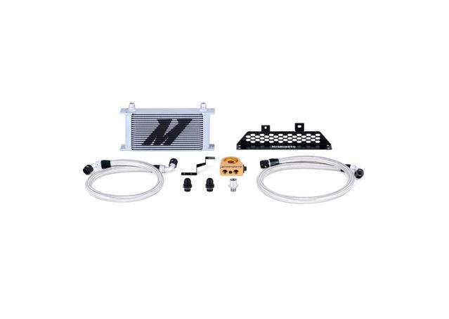 Mishimoto Oil Cooler Kit Thermostatic (Silver) MMOC-FOST-13T Sparesbox - Image 1