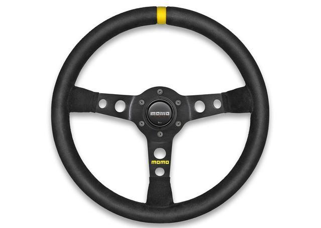 MOMO Steering Wheel MOD 07 Black 350 11111811311 Sparesbox - Image 1