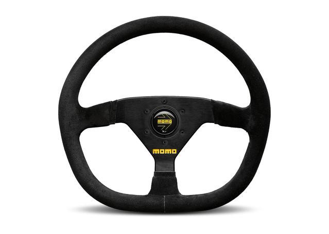 MOMO Steering Wheel MOD 88 Flat Bottom Black 350 VR88FB35SBLKL Sparesbox - Image 1