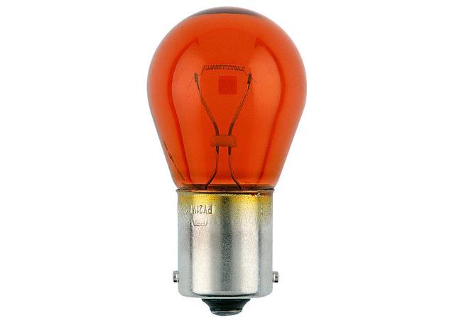 Narva Globes Tail Light/Indicator 12V 21W Amber 2 Pack 47383BL Sparesbox - Image 1