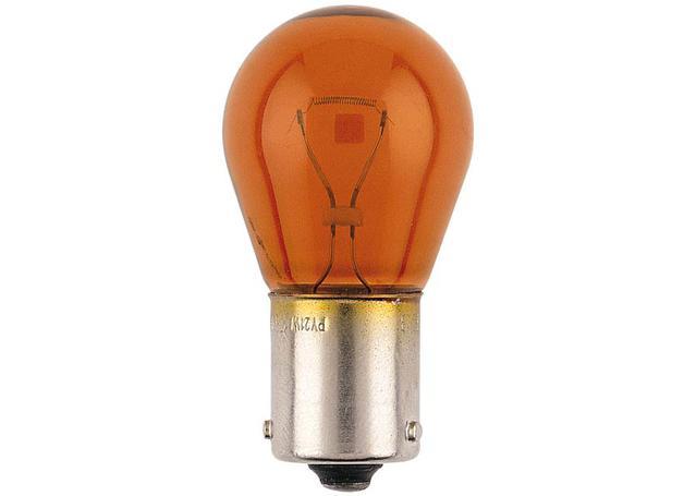 Narva Globes Tail Light/Indicator 12V 21W Amber 2 Pack 47384BL Sparesbox - Image 1