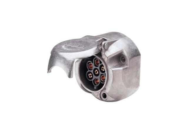 Narva Trailer Plug 7 Pin Large Round Metal (25Pk) 82062/25 Sparesbox - Image 1