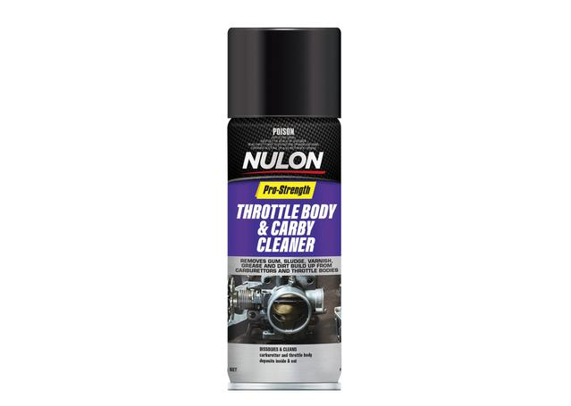 Nulon Pro-Strength Throttle Body & Carby Cleaner Aerosol Spray 400g Sparesbox - Image 1