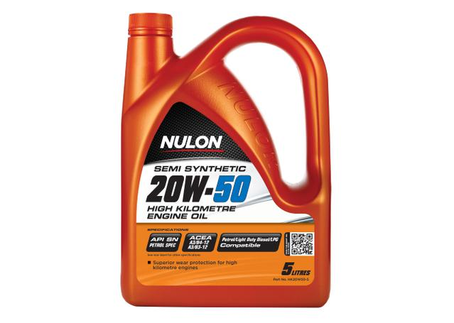 Nulon Semi Synthetic High KM Engine Oil 20W50 5L