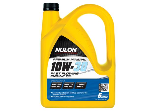 Nulon Premium Mineral Oil Fast Flowing 10W30 5L Sparesbox - Image 1