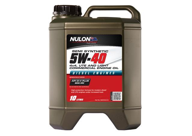Nulon Semi Synthetic 4x4, Ute & Light Commercial Diesel Engine Oil 5W40 10L