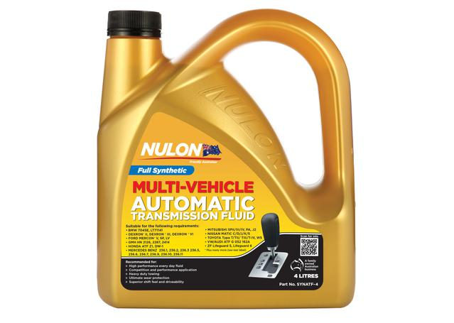 Nulon Automatic Transmission Fluid Full Synthetic 4L Sparesbox - Image 1