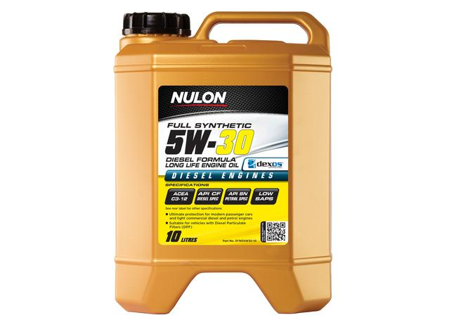 Nulon 5W30 Engine Oil Full Synthetic Diesel Long Life 10L Sparesbox - Image 1