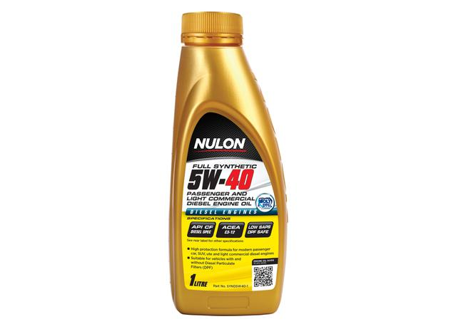 Nulon Full Synthetic Passenger and Light Commercial Diesel Engine Oil 5W40  1L