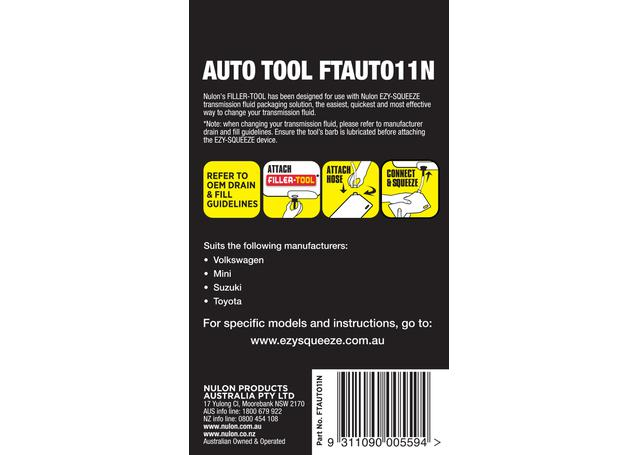 Nulon Filler Tool 11N (Suits Auto M10 Thread) FTAUTO11N Sparesbox - Image 2