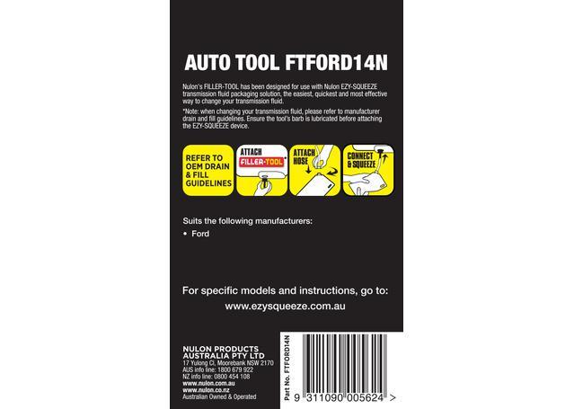 Nulon Filler Tool 14N (Suits Ford 5 Speed) FTFORD14N Sparesbox - Image 2