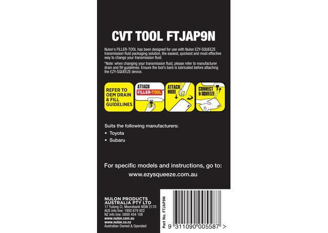 Nulon Filler Tool 9N (Suits Toyota/Subaru CVT/Auto) FTJAP9N Sparesbox - Image 2