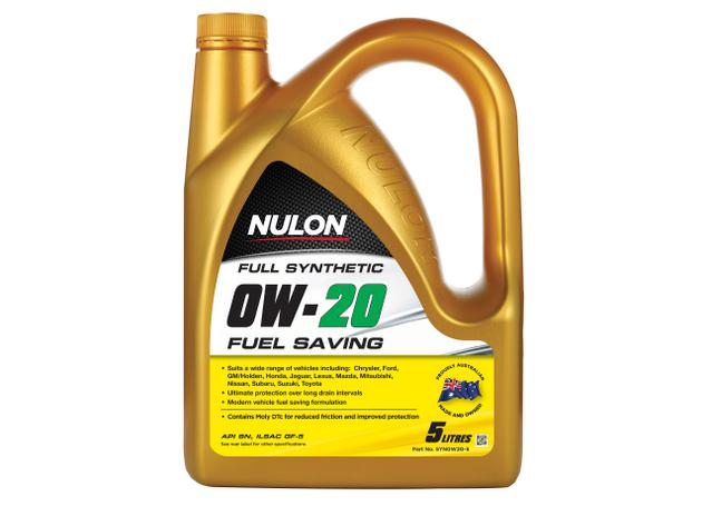Nulon Full Synthetic Fuel Saving Engine Oil 0W20 5L Sparesbox - Image 1