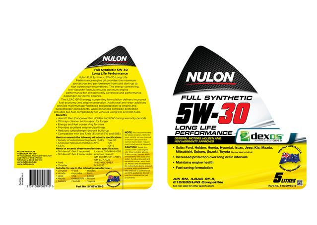 Nulon Full Synthetic Long Life Engine Oil 5W30 5L Sparesbox - Image 2