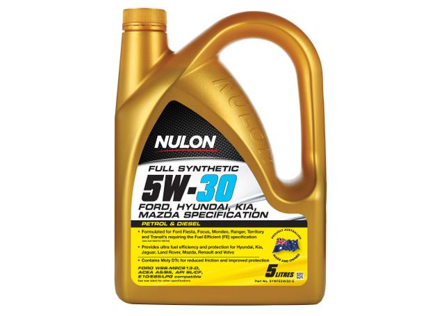 Nulon Full Synthetic Fuel Efficient Engine Oil 5W30 5L  Sparesbox - Image 1