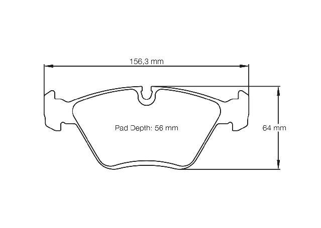 Pagid Racing E1295 RST 2 - Rally Sprint Front Brake Pad Set Sparesbox - Image 2