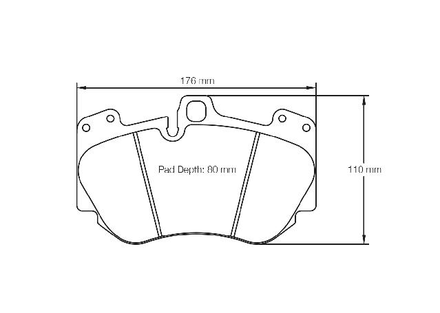 Pagid Racing E4907 RSC 2 - Ceramic Front Brake Pad Set Sparesbox - Image 2