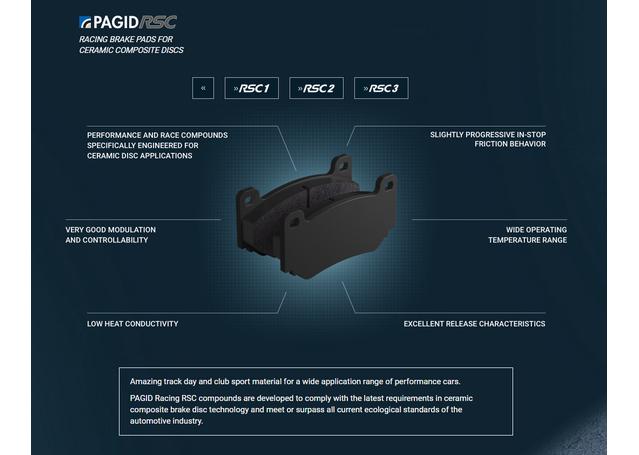 Pagid Racing E1287 RSC 3 - Ceramic Brake Pad Set Sparesbox - Image 5