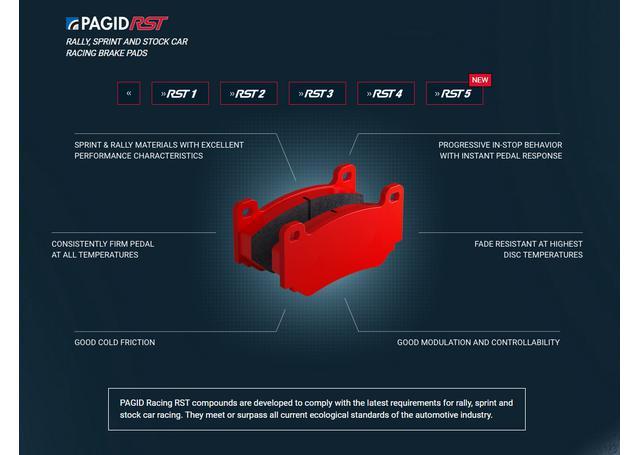 Pagid Racing E1295 RST 2 - Rally Sprint Front Brake Pad Set Sparesbox - Image 5