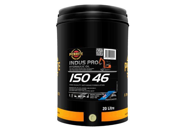 Penrite Indus Pro Hydraulic 46 ISO 46 Hydraulic Oil 20L Sparesbox - Image 1