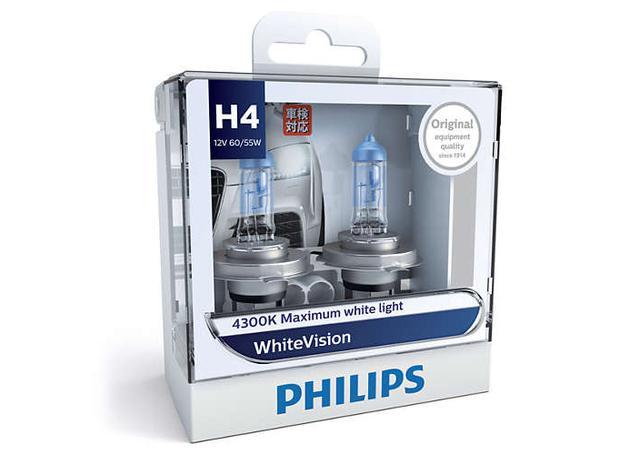 philips white vision h4 globe 12v 60 55w 2 pack 12342whvs2 sparesbox sparesbox. Black Bedroom Furniture Sets. Home Design Ideas