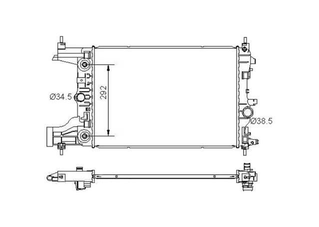 Protex Radiator fits Holden Cruze Automatic (JG,JH) 2009-15 - RADH288 290276
