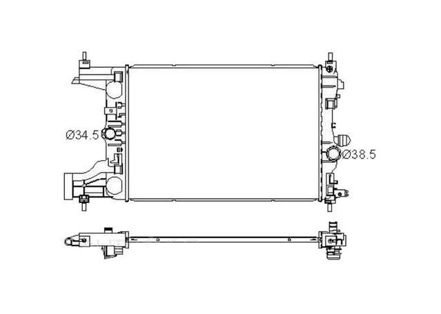 Protex Radiator fits Holden Cruze Manual (JG,JH) 2009-15 - RADH289 290277