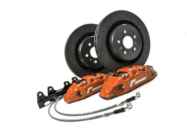 RacingLine VWR65G701-RED - VWR 345mm 4 Pot Brake Upgrade Kit Red