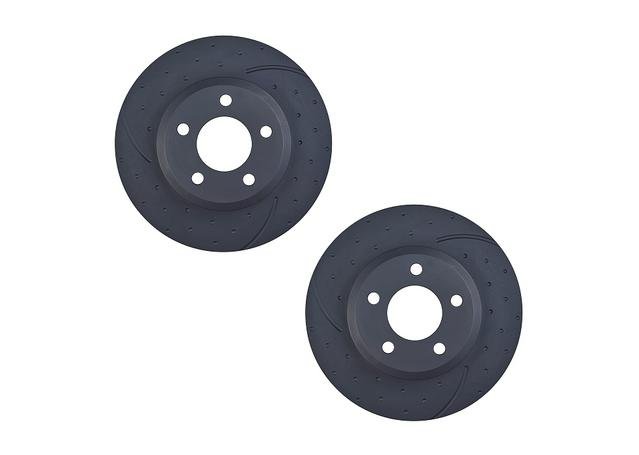 RDA Slotted And Dimpled Brake Rotor Pair  RDA8371D 313481
