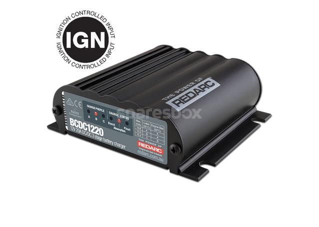REDARC 20A In-Vehicle DC Smart Battery Charger (Ignition Control) BCDC1220-IGN Sparesbox - Image 1