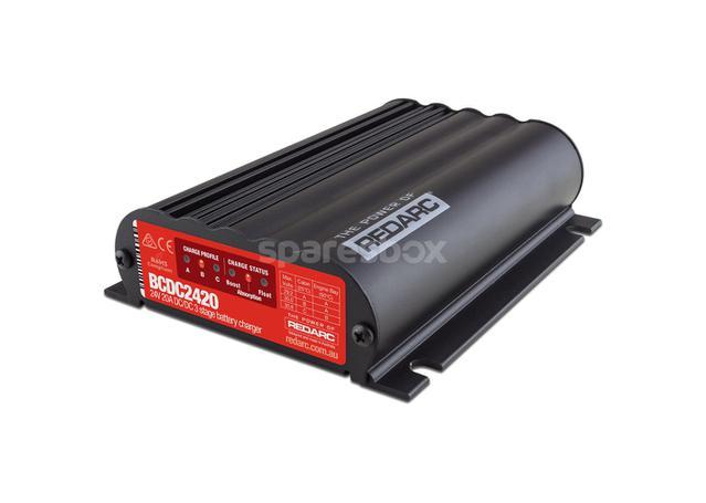 REDARC 20A Battery Charger DC-DC 24V BCDC2420-LV Sparesbox - Image 1
