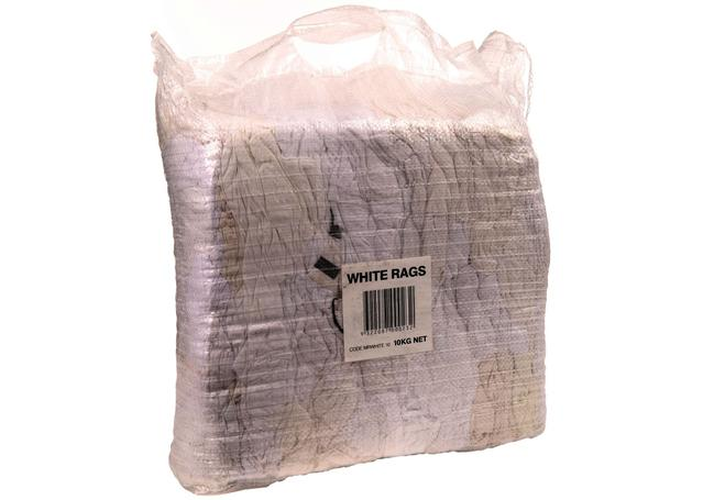 Bag of White Rags 10kg Sparesbox - Image 1