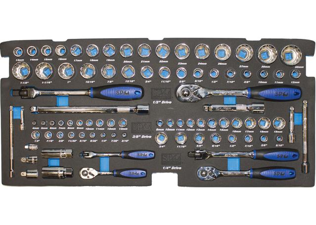 SP Tools Custom Series Tool Kit 134 Pc Metric/SAE 2 Dr Black Sparesbox - Image 3