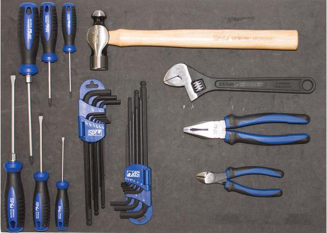 SP Tools Custom Series Tool Kit 134 Pc Metric/SAE 2 Dr Black Sparesbox - Image 4