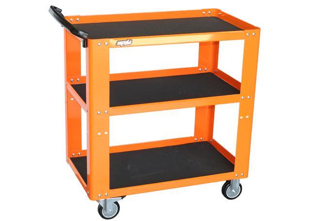 SP Tools Trolley Orange Professional 3 Shelf Sparesbox - Image 1