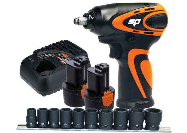 "SP Tools 12v 3/8""Dr Mini Impact Wrench Kit 2.0Ah Max Lithium Sparesbox - Image 1"