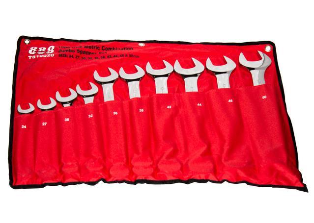 888 By SP Tools Spanner Set Roe Metric Jumbo 10Pc Sparesbox - Image 1