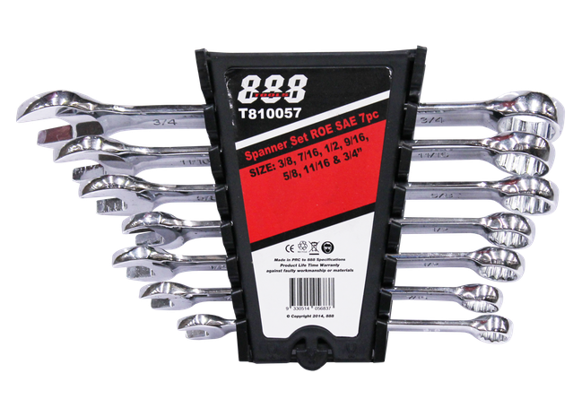 888 By SP Tools Spanner Set Roe SAE 7Pc Sparesbox - Image 1