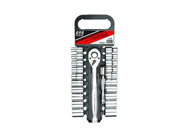 888 By SP Tools Socket Set 1/4 Dr 6PT Metric/SAE 22Pc Sparesbox - Image 1