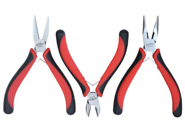 888 Tools By SP Tools Mini Plier Set 3pc Sparesbox - Image 1