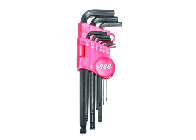 888 By SP Tools Key Set 9Pc SAE Ball Drive Hex Sparesbox - Image 1