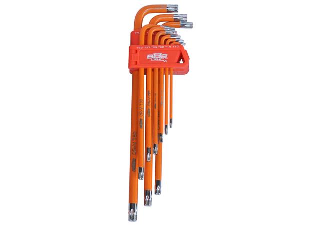 888 By SP Tools Key Set 9Pc Torx Tamper Hex (Orange) Sparesbox - Image 1